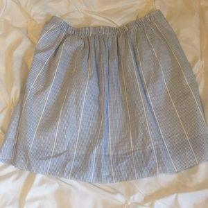 Pin stripe jcrew skirt
